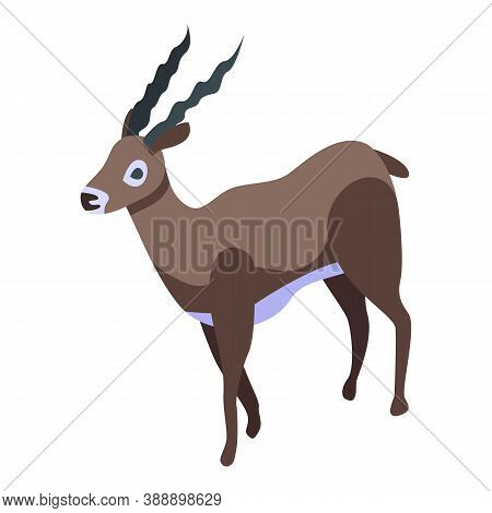 Gazelle Icon. Isometric Of Gazelle Vector Icon For Web Design Isolated On White Background