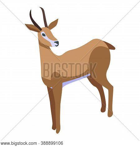 Impala Gazelle Icon. Isometric Of Impala Gazelle Vector Icon For Web Design Isolated On White Backgr