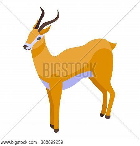 Safari Gazelle Icon. Isometric Of Safari Gazelle Vector Icon For Web Design Isolated On White Backgr