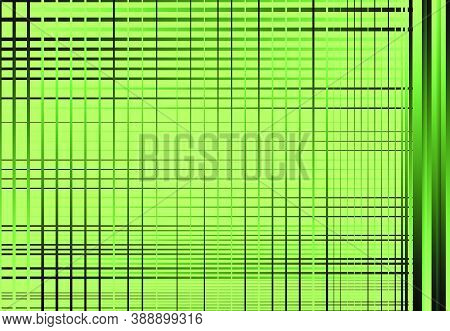 Colorful, Black Gradient Grid, Mesh, Lattice Or Grille. Intersected Lines Vector