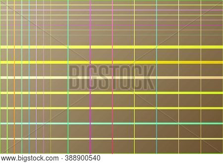 Random Color Mesh, Grid, Lattice, Grating Of Intersecting Straight Lines