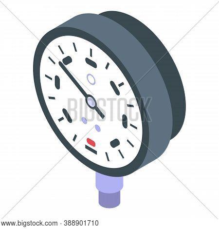 Energy Manometer Icon. Isometric Of Energy Manometer Vector Icon For Web Design Isolated On White Ba