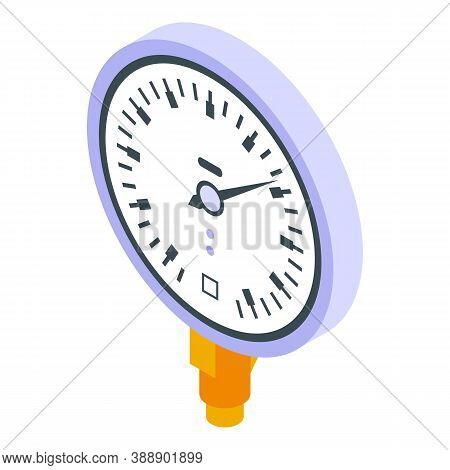 Air Manometer Icon. Isometric Of Air Manometer Vector Icon For Web Design Isolated On White Backgrou