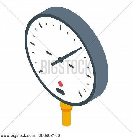 Car Manometer Icon. Isometric Of Car Manometer Vector Icon For Web Design Isolated On White Backgrou