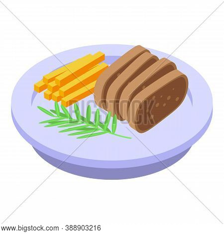 Rosemary Food Icon. Isometric Of Rosemary Food Vector Icon For Web Design Isolated On White Backgrou