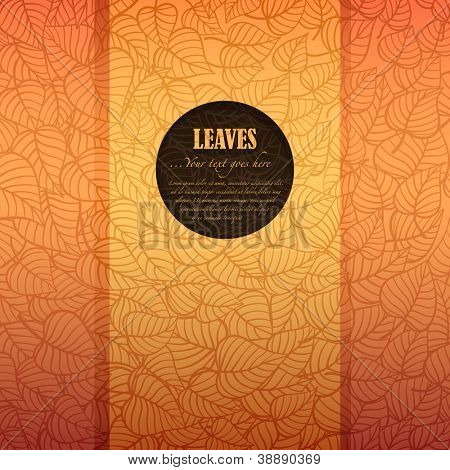 Autumn leaves banner made of fancy paper with space for Your text, vector eps8 illustration poster
