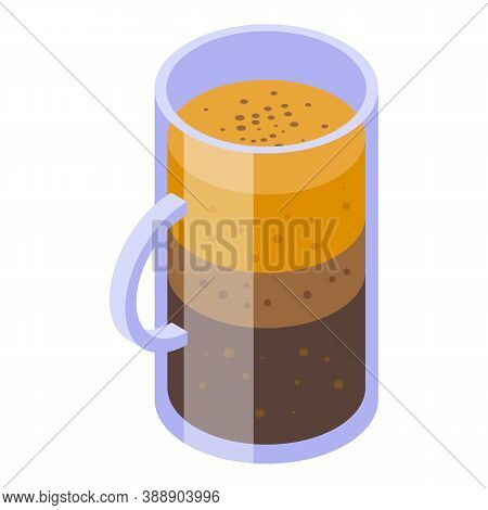 Cinnamon Coffee Icon. Isometric Of Cinnamon Coffee Vector Icon For Web Design Isolated On White Back