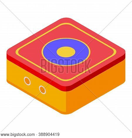 Lifeguard Trampoline Icon. Isometric Of Lifeguard Trampoline Vector Icon For Web Design Isolated On
