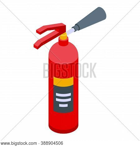 Rescuer Fire Extinguisher Icon. Isometric Of Rescuer Fire Extinguisher Vector Icon For Web Design Is