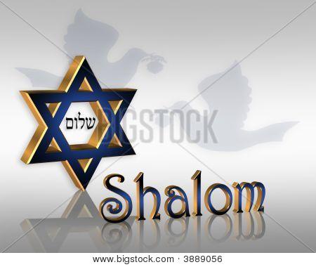 Hanukkah Shalom Jewish Star Background