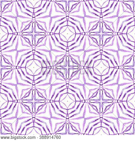 Textile Ready Fantastic Print, Swimwear Fabric, Wallpaper, Wrapping.  Purple Lovely Boho Chic Summer