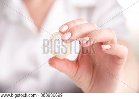 Birth Control Methods Using Condom. H.i.v. Aids Prevention. Condom For Safe Sex