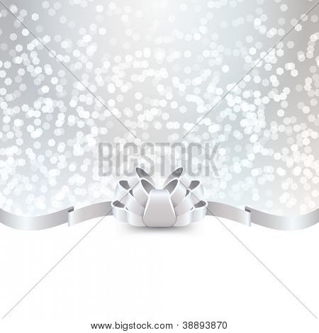 silver greeting card template