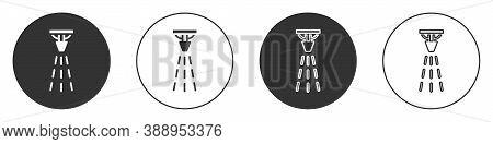 Black Fire Sprinkler System Icon Isolated On White Background. Sprinkler, Fire Extinguisher Solid Ic