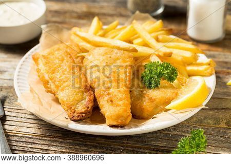 Homemade British Fish And Chips