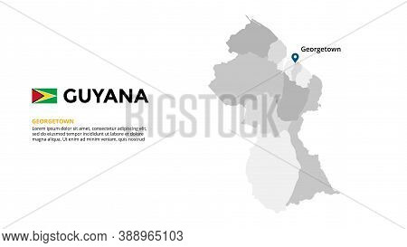 Guyana Vector Map Infographic Template. Slide Presentation. Global Business Marketing Concept. South