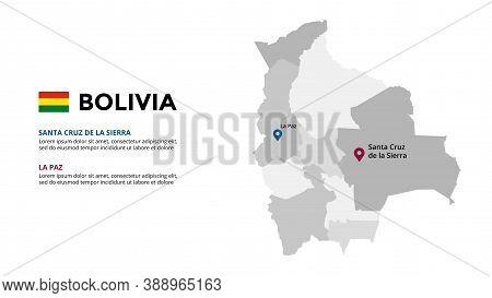Bolivia Vector Map Infographic Template. Slide Presentation. Global Business Marketing Concept. Sout