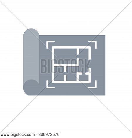 Drawing. Construction Plan. Technical Industrial Scheme. Sheet Of Paper. Engineer Tool. Project Of W