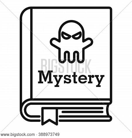Old Mystery Book Icon. Outline Old Mystery Book Vector Icon For Web Design Isolated On White Backgro