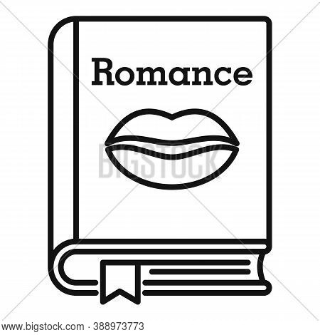 Literary Romance Book Icon. Outline Literary Romance Book Vector Icon For Web Design Isolated On Whi