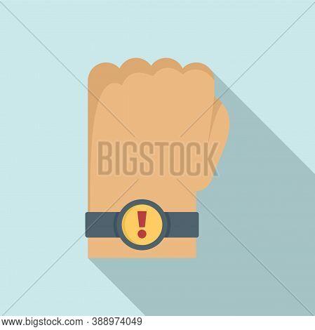 Deadline Smartwatch Notification Icon. Flat Illustration Of Deadline Smartwatch Notification Vector