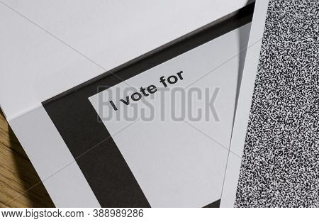 Election Ballot And Secrecy Sleeves, Business Document Mail Concept.
