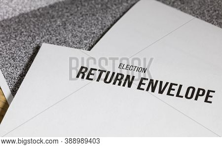 Election Return Envelope And Secrecy Sleeves, Business Document Mail Concept.
