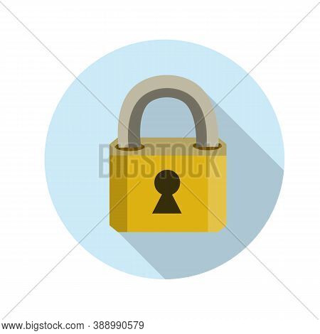 Closed Lock. Keyhole. Metal Object. Protection And Security. The Element Doors. Block And Unlock. Ca