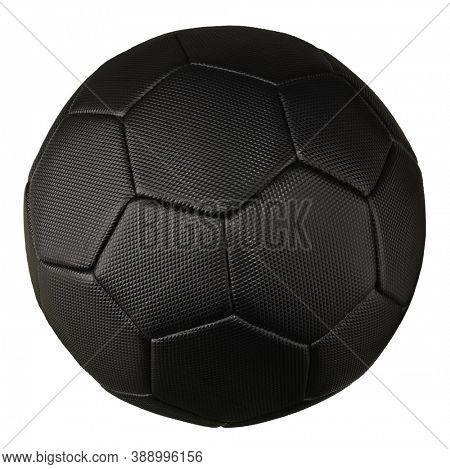 Football soccer ball black official size isolated on white background