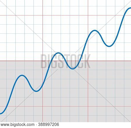 Rising Sine Curve With Some Small Sinusoids Falling And Rising - Symbolic For Upward Trend With Temp