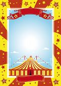nice circus poster. A circus poster for your advertising poster