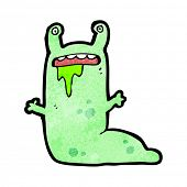 cartoon gross slug character poster