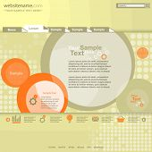 Circle design website template poster