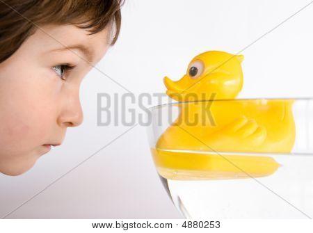 Friendship, Boy And Duck