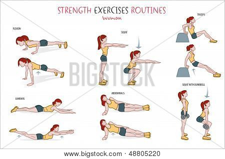 Strength Exercise Routine Woman