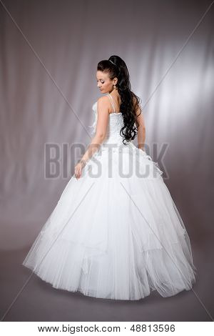 Woman In Wedding Gown.