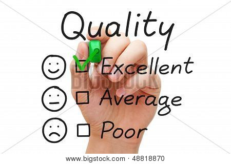 Excellent Quality Evaluation