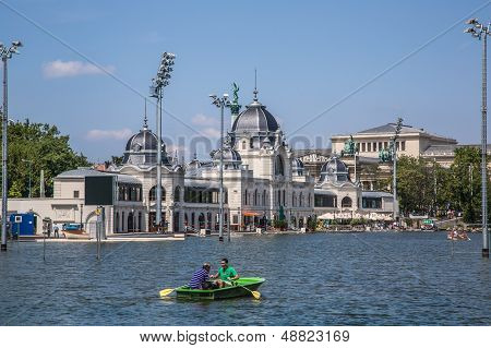 The Newly Renovated Skating Rink (now As Lake) In The Main City Park In Budapest