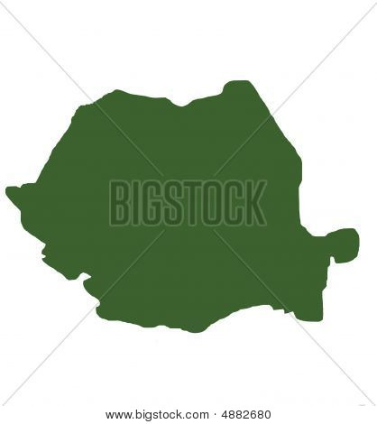 Romania Outline Map