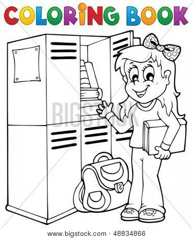 Coloring book school topic 5 - eps10 vector illustration.