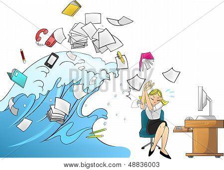 Flutwelle von Arbeit - Frau-Version