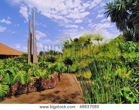 Visiting Centre Juego de Bolas on La Gomera Canary Islands Spain poster