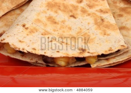 Mexican Quesadilla  Close Up