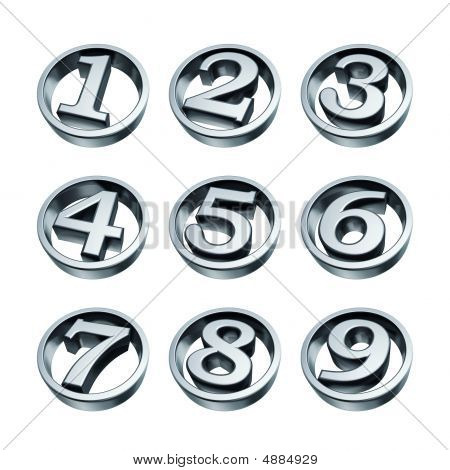 Silver Numbers Of Phone