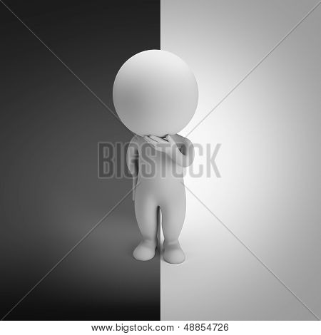3D Small People - Positive Or Negative