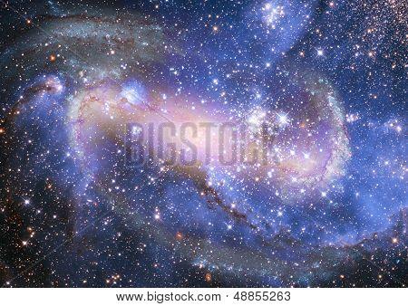Far away spiral galaxy.
