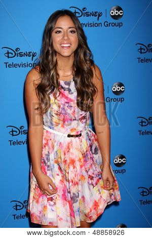 LOS ANGELES - AUG 4:  Chloe Bennet arrives at the ABC Summer 2013 TCA Party at the Beverly Hilton Hotel on August 4, 2013 in Beverly Hills, CA