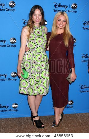 LOS ANGELES - AUG 4:  Sophie Lowe, Emma Rigby arrives at the ABC Summer 2013 TCA Party at the Beverly Hilton Hotel on August 4, 2013 in Beverly Hills, CA