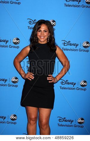 LOS ANGELES - AUG 4:  Lenora Crichlow arrives at the ABC Summer 2013 TCA Party at the Beverly Hilton Hotel on August 4, 2013 in Beverly Hills, CA