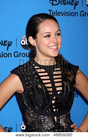 LOS ANGELES - AUG 4:  Hayley Orrantia arrives at the ABC Summer 2013 TCA Party at the Beverly Hilton Hotel on August 4, 2013 in Beverly Hills, CA